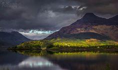 Glencoe - Pap of Glencoe - Glow in the dark, Highlands, Scotland.
