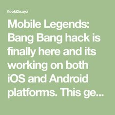Mobile Legends: Bang Bang hack is finally here and its working on both iOS and Android platforms. This generator is free and its really easy to use! Facebook Android, Alucard Mobile Legends, Pool Hacks, Mobile Legend Wallpaper, The Legend Of Heroes, App Hack, Android Hacks, Free Gems, Cheating