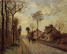 The Louveciennes Road, 1870			-Camille Pissarro - by style - Impressionism