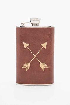 Leather Arrow Flask Hip Flask