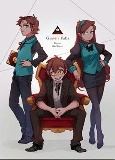 △ Gravity Falls- Reverse Falls △ Rev!Dipper, Rev!Mabel, and Bipper
