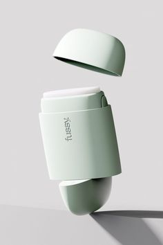 Fussy's natural deodorant blocks slot into a reusable case made from recycled plastic. Once the block runs out another can be inserted, helping to minimise waste. Supermarket Shelves, Circular Economy, Plastic Waste, Natural Deodorant, Dezeen, Packaging Design Inspiration, Design Agency, Industrial Design, Design Trends