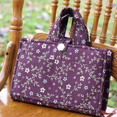 Handmade Bible Cover Tote in Pretty Purple Floral. $20.00, via Etsy.