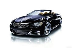 BMW convertible car front view black sports luxury ✿
