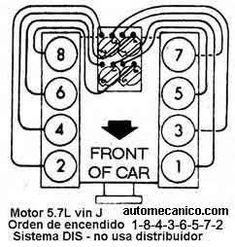 FIRING ORDER DECAL Chevrolet small block Chevy 267 283 327