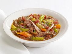 Get Slow-Cooker Pork Stew Recipe from Food Network - Good but next time use less water and serve with rice
