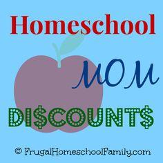 Homeschool Mom Discounts