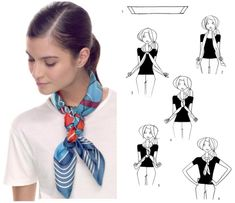 How To Tie A Scarf - Hermès Scarf Knotting Cards - Little Plait