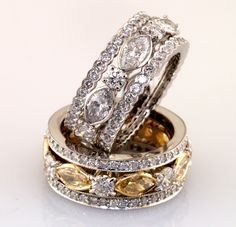 The yellow, with only one (my Mommy) and the rest very similar to my new wedding band!! So excited to get this ring!