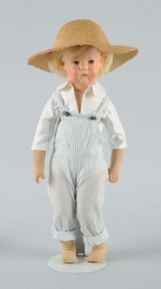 Very rareKathe Kruse Boy Schielbokchen Doll, believed to be one of four known to exist
