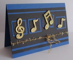 IC500 - something old, something blue and music, of course! by Stamping-C - Cards and Paper Crafts at Splitcoaststampers