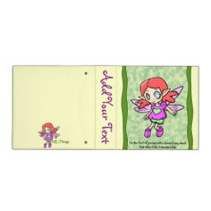 Fairy - Don't Say Much Vinyl Binders      #fairy #backtoschool #zazzle