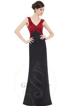 8f1894457abd Robe rouge et noire plissé de lotus milieu basque vie
