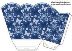 Blue Butterfly Gift Basket 1