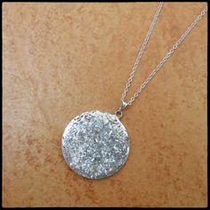 stříbrný medailonek 32 mm do výstřihu