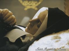 The incorrupt body of St. Bernadette Soubirous at Nevers, France