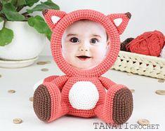 Crochet Pattern of Photo Frame FOX (Tutorial PDF file)
