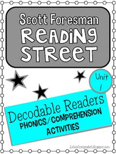 Life in First Grade: Scott Foresman Decodable Activities-Unit 1