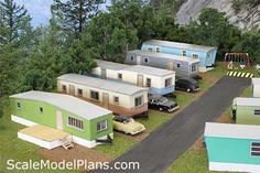 scale model trailer park  you have to buy them  but how amazing are they