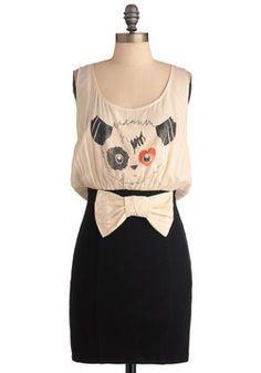 Panache Panda-mic Dress, #ModCloth  OMG WANT IT. #justsaying