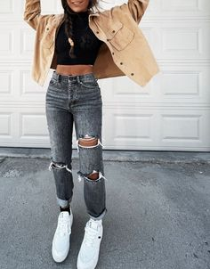Trendy Summer Outfits, Cute Comfy Outfits, Winter Fashion Outfits, Simple Outfits, Outfits For Teens, Look Fashion, New Outfits, Stylish Outfits, Casual School Outfits