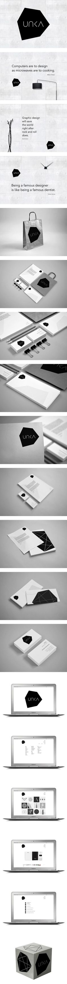 UNKA by Ven Klement, via Behance #identity #packaging #branding