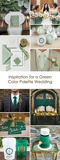 Green is the perfect wedding palette for every season! Get inspired by our three favorite shades for a lovely event.