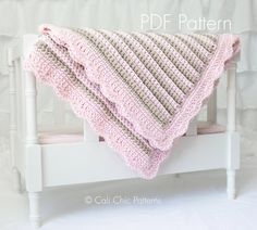 Crochet Baby Blanket PATTERN 24 Sweet Dreams por CaliChicPatterns