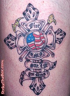 Firefighter tattoo bible verse tattoo pinterest for Firefighter tattoos and meanings