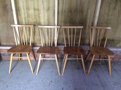 Beautiful Ercol Stick Back Chairs  //Vintage Tweaks Ebay Shop