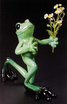 Kitty's Critters Frog: Romeo The Lover Frog