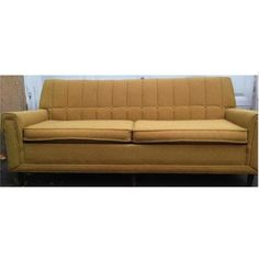 Vintage Mustard Yellow Couch 1