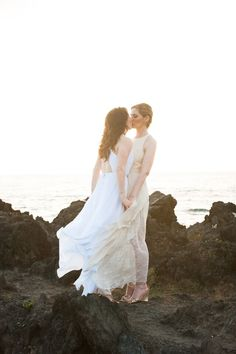 BLISS brides looking gorgeous in their open-backed wedding dresses