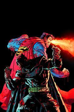 #Superman #And #Barman #Fan #Art. (DARK KNIGHT III: THE MASTER RACE #7 Cover) By: Andy Kubert. ÅWESOMENESS!!!™ ÅÅÅ+