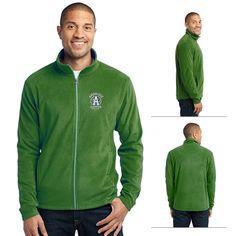 Port Authority F223 Microfleece Jacket | Embroidered Logo Port Authority Zippered Fleece Jackets