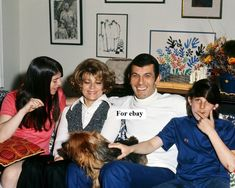 Leonard Nimoy and his first wife Sandra Zober with their children Julie and Adam.