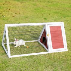 Wooden Triangle Rabbit Cage Bunny Hutch Guinea Pig Ferret Coop Hen Cage Running #rabbitcare #rabbithutch #rabbit #rabbithouses Guinea Pig Hutch, Bunny Hutch, Pet Guinea Pigs, Bunny Cages, Rabbit Cages, Rabbit Life, House Rabbit, Small Rabbit, Pet Rabbit
