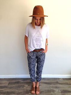 1 LEFT!  Sky High Gypsy Pants