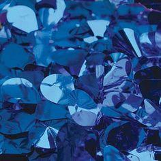 Blue Metallic Floral Sheeting