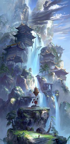 ArtStation - 闻说神仙晋葛洪,炼丹曾此占云峰。, zhong wenhao