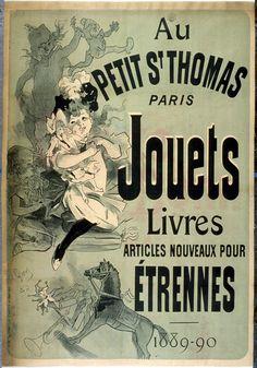 Publicité pour magasin de jouets à Paris