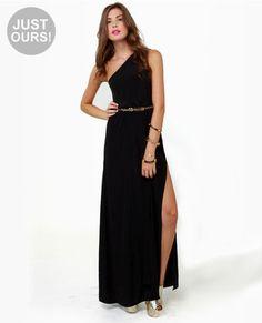 LULUS Exclusive Temptress Black Maxi Dress