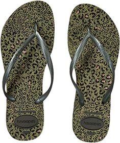 New Havaianas Women's Slim Animal Flip Flop Sandal. leopard print sandals ($21.1) from top store findtopgoods