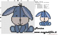 Eeyore cross stitch pattern