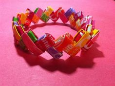 like the old gum wrapper chains we used to make ... now with candy wrappers!