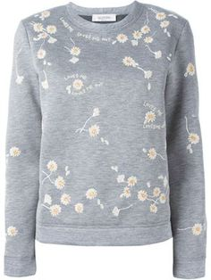 beaded daisy sweatshirt