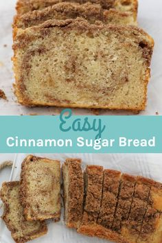 Quick Bread Recipes, Sweet Recipes, Baking Recipes, Kid Recipes, Yogurt Recipes, Cinnamon Sugar Bread, Easy No Bake Desserts, Sweet Bread, Recipes