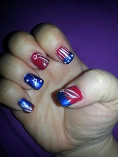 4th of july nails... I just like the pointer finger one