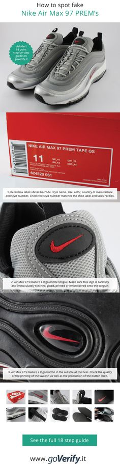 176e628251755e Learn how to spot fake Nike Air Max with this detailed 18 point step-by-step  guide by goVerify.