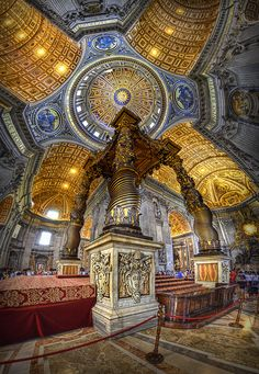 Michelangelo's Dome, St. Peter's Basilica, Vatican City, Italy by Klaus Herrmann St Pierre, St Peters Basilica, Sacred Architecture, Classical Architecture, Sistine Chapel, Cathedral Church, Vatican City, Chapelle, Place Of Worship